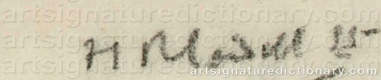 Signature by Francis Campbell Boileau CADELL