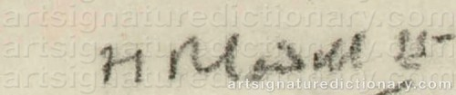 Signature by: CADELL, Francis Campbell Boileau