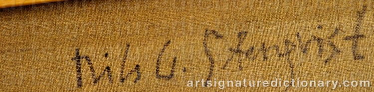 Signature by Nils G. 'Ngs' STENQVIST