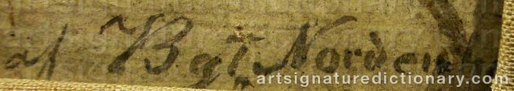 Signature by Bengt NORDENBERG