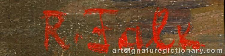 Signature by Robert Rafaelovich FALK
