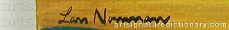 Forged signature of Lars NORRMAN