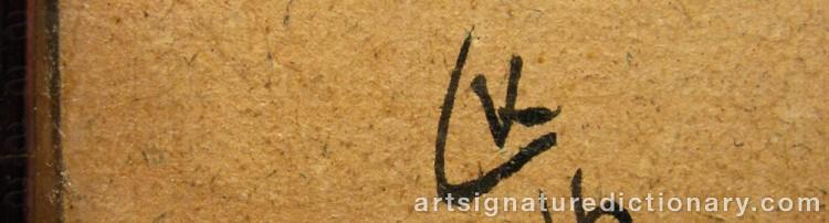 Forged signature of Wassily KANDINSKY