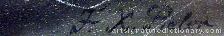 Signature by Franz Xaver PIELER