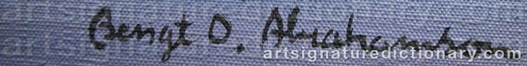 Signature by Bengt Olov 'Bengt O.' ABRAHAMSSON