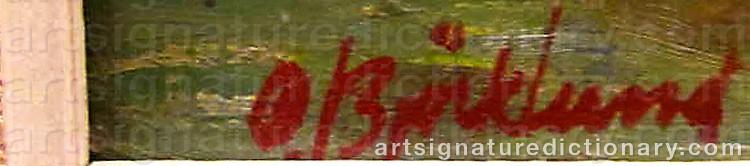 Signature by Oddmar BJÖRKLUND