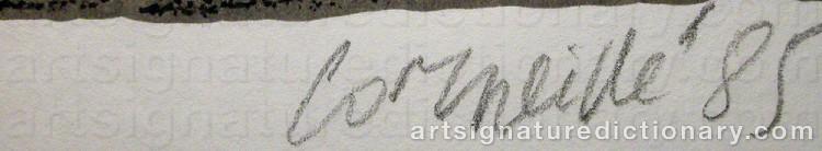 Signature by Cornelis Guillaum Corneille Van 'Corneille' BEVERLOO