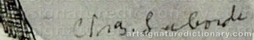 Signature by: LABORDE, Charles