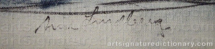Signature by Arne LINDBERG