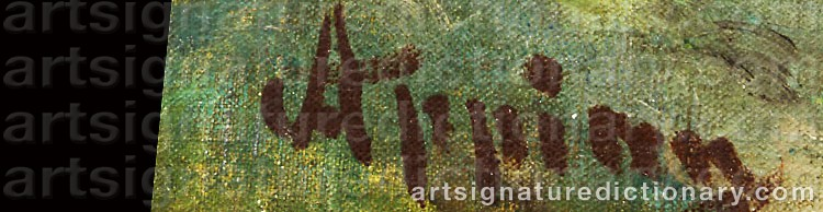Signature by Adolphe APPIAN