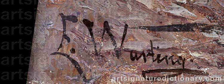 Signature by Elisabeth WARLING