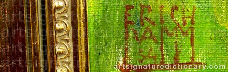 Signature by Erik LAMM