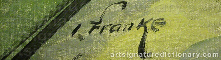 Signature by Ivar FRANKE