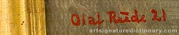 Signature by Olaf RUDE