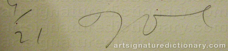 Signature by Jim DINE