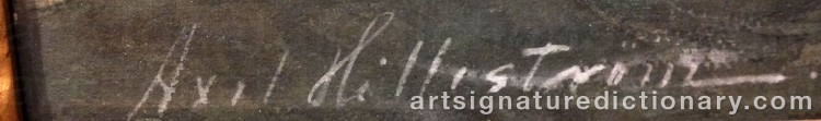 Signature by Axel HILLESTRÖM