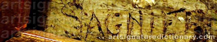 Signature by Manuel SAGNIER VIDAL