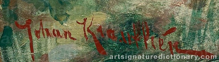 Signature by Johan KROUTHÉN