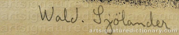 Signature by Waldemar SJÖLANDER