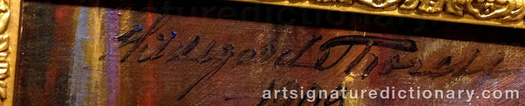 Signature by Hildegard THORELL