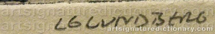 Signature by Lars Göran 'Lg' LUNDBERG