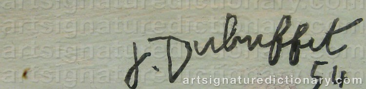 Signature by Jean DUBUFFET