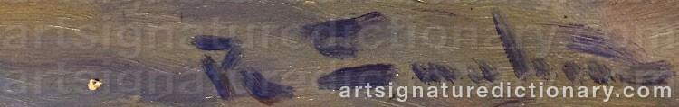 Signature by Ragnar SWAHN