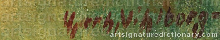 Signature by Gerhard WIHLBORG