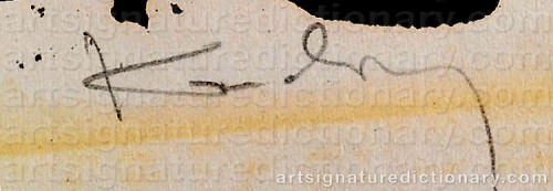 Signature by: KANDINSKY, Wassily