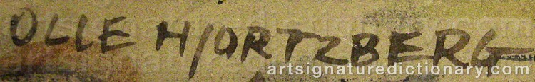 Signature by Olle HJORTZBERG