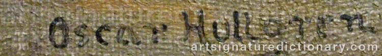 Signature by Oskar HULLGREN