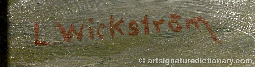 Signature by Lennart WICKSTRÖM