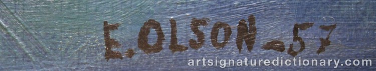 Forged signature of Erik OLSON