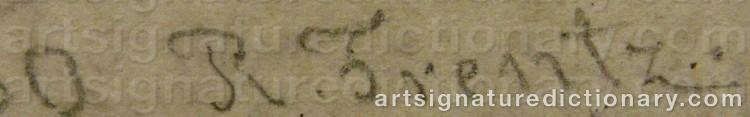 Signature by Rudolf Feodorovich FRENTZ