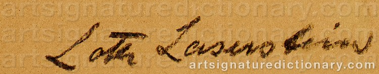 Signature by Lotte LASERSTEIN