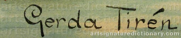 Signature by Gerda TIRÉN