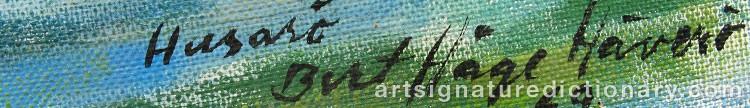 Signature by Bert Håge HÄVERÖ