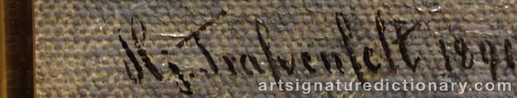 Signature by Hjalmar TRAFVENFELT