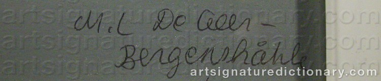 Signature by Marie-Louise EKMAN