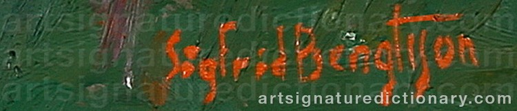 Signature by Sigfrid BENGTSSON