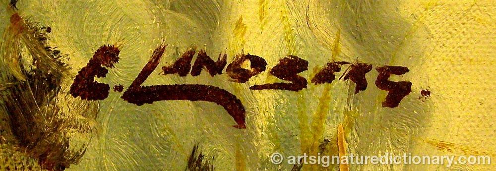 Signature by E LANDBERG
