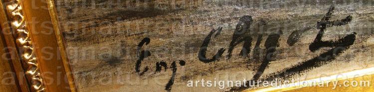 Signature by Eugène Henri Alexandre CHIGOT