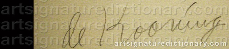 Signature by Willem De KOONING