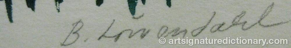 Signature by B. LÖWENDAHL
