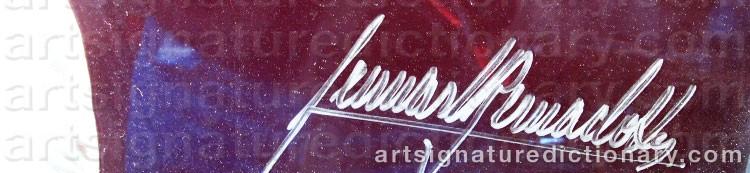 Signature by Lennart BERNADOTTE