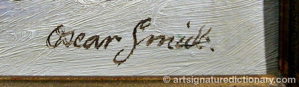 Signature by Oscar SMITH