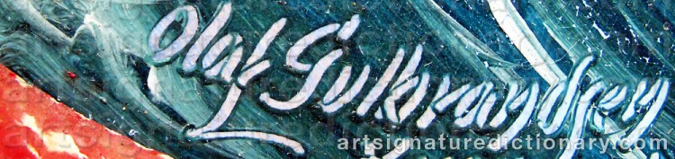 Signature by Olaf GULBRANDSEN