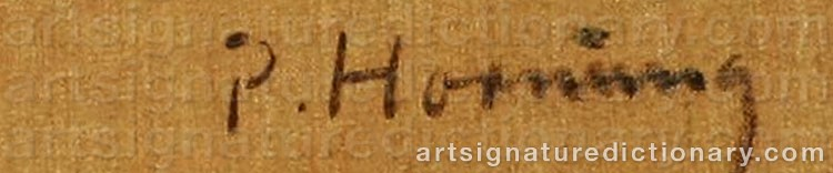 Signature by Preben HORNUNG