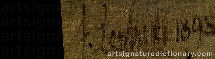 Signature by Franz Seraph Von LENBACH