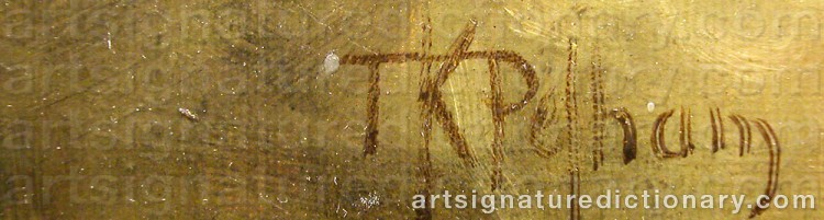 Signature by Thomas Kent PELHAM